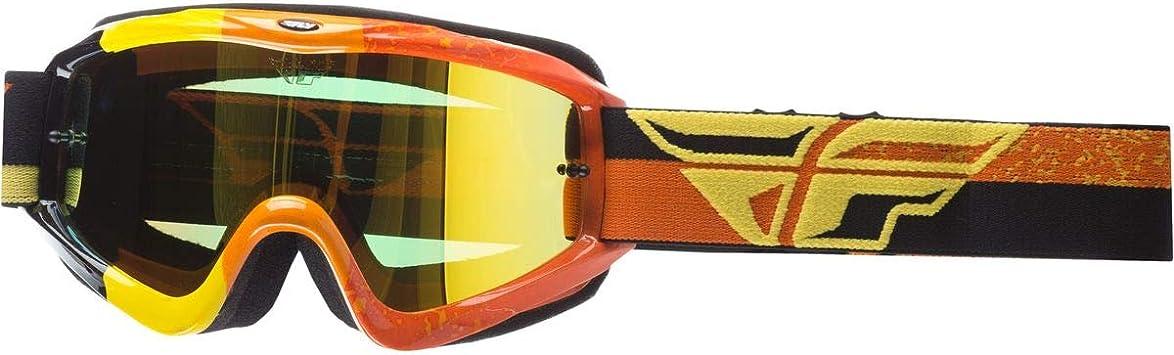 HI-VIZ Orange//Black//Orange Mirror Lens Fly Racing 2020 Zone Goggles