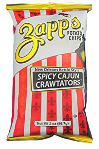 Zapp's New Orleans Kettle-Style Potato Chips, Cajun Crawtator – Crunchy Chips with a Spicy Kick, Great for Lunches or Snacking on the Go, 2 oz. Bag (Pack of 25)