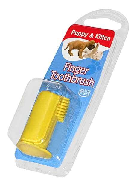 amazon com hatchwells puppy kitten finger toothbrush 100g bulk