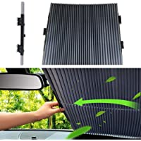 Universal Car Retractable Windshield Sun Shade, Vuffuw Auto Sun Shade Cover Car Curtain Sun Shade Protection Front Windows For Windshield SUV Car, Trucks, Vans