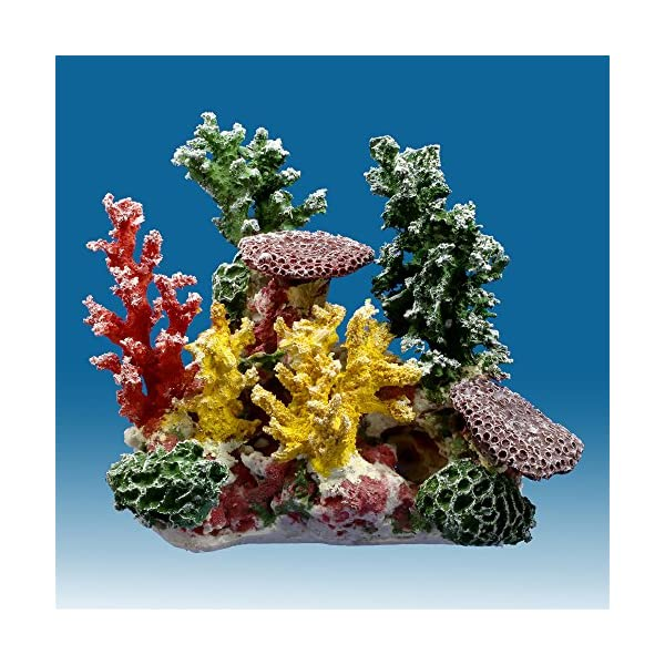 Instant Reef DM058 Artificial Coral Inserts Decor, Fake Coral Reef Decorations for Colorful Freshwater Fish Aquariums, Marine and Saltwater Fish Tanks 1