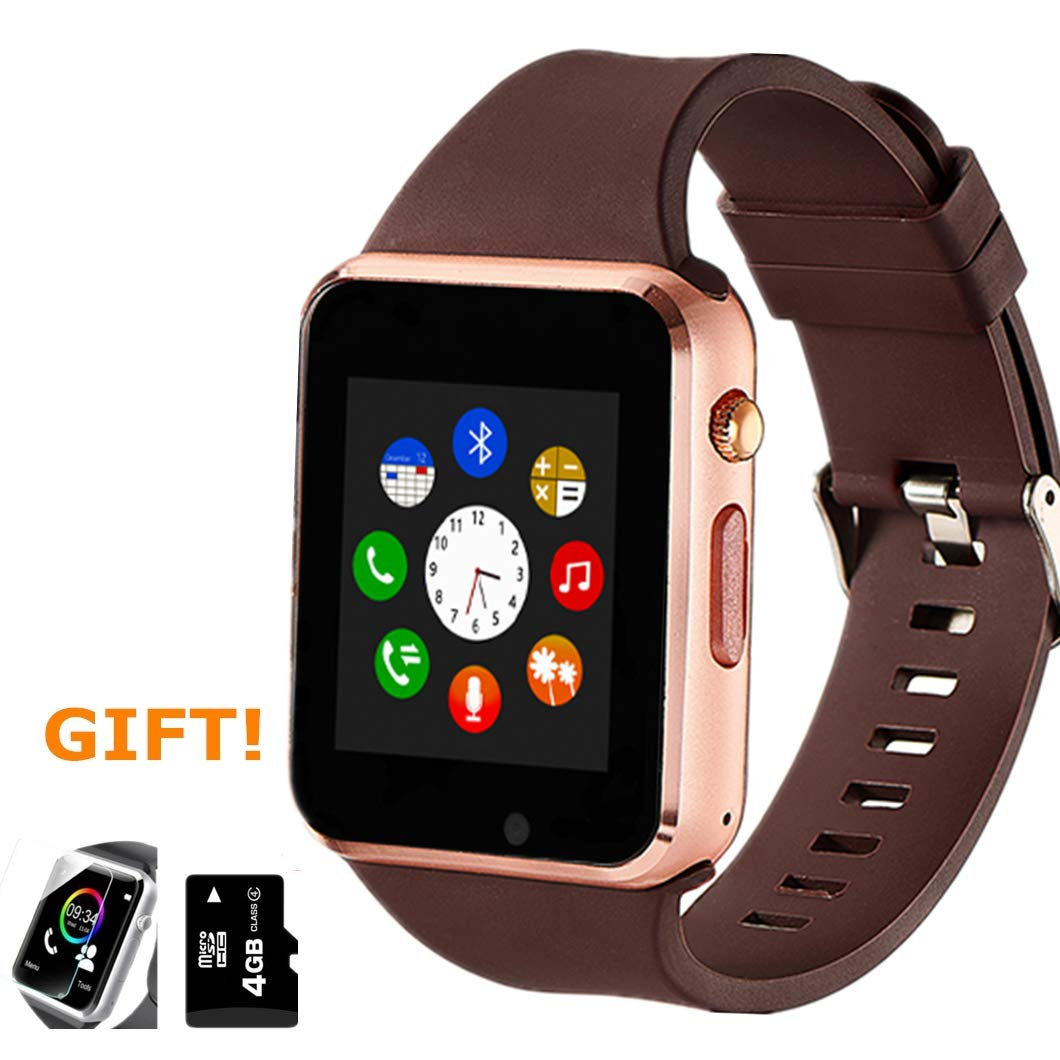 Smart Watch, Smartwatch Phone Sport Smart Wrist Watch with SD Card Pedometer Camera Call Text Touch Screen Compatible for Samsung LG Huawei Android ...