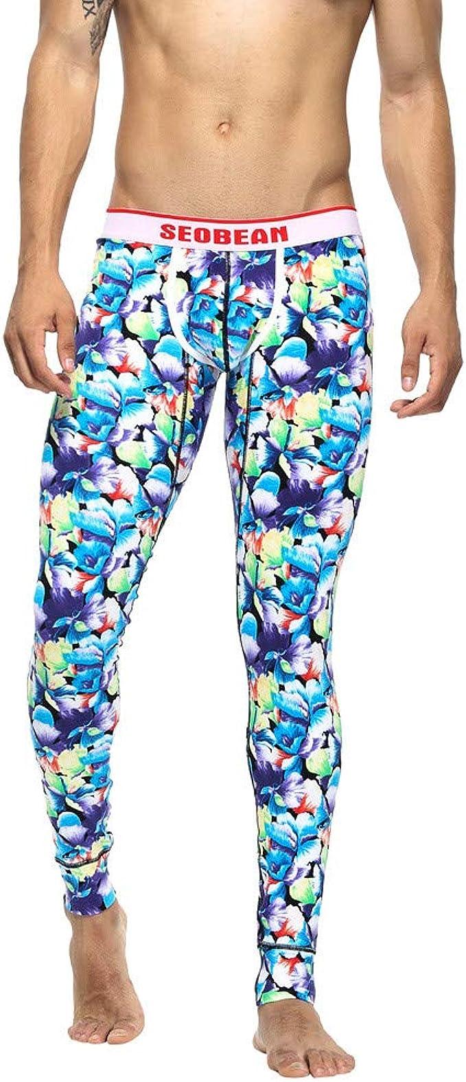 FELZ Leggins Hombre Deporte, Floral Estampados Pantalones térmicos ...