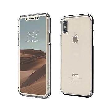 56de58be18 motomo iPhone XS/X ケース INFINITY CLEAR CASE ブラック(モトモ インフィニティ クリアケース)