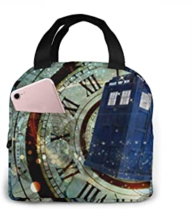 Portable Lunch Tote Bag Cute Doctor Dr Who Police Box Mice Custom Design Cool Gaming Mousepd Mouse Pad Mat 12 Lunch Bag Insulated Cooler Thermal Reusable Bag Lunch Box Handbag Bags For Women