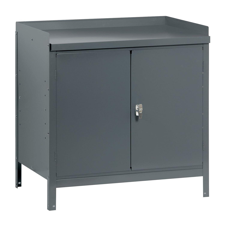 1 Adjustable Shelf Edsal 59243 Industrial Gray Steel Cabinet Table 24 Height x 36 Width x 24 Depth