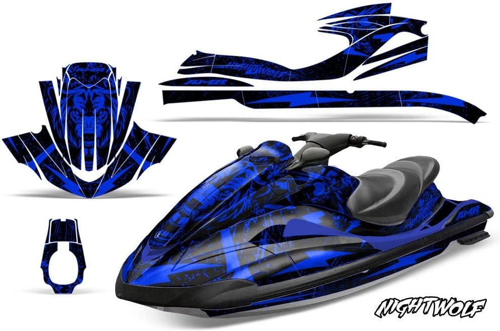 AMR Racing Jet Ski Graphics Kit Sticker Decal Compatible with Yamaha Waverunner FX140 2002-2005 Blue 1