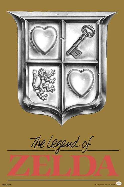 Pyramid America The Legend of Zelda Super Ninetendo NES Game Boy DS 3DS Wii Vintage Box Art Print Matted Framed Poster 20x26 inch