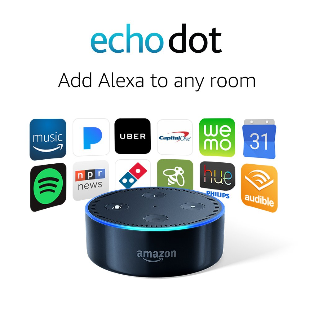 $10 Off Amazon 2nd Gen. Echo Dot (Black or White) 39.99 at  amazon.com + FS online deal