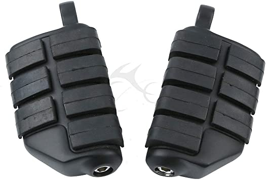 Motorcycle 10mm High Way FootPegs Footrests Male Mount For Harley Davidson Touring Sportster Dyna Street Glide Road King
