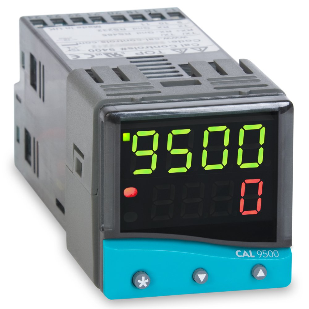 CAL Controls 95001PA000 CAL 9500P Series 1/16 DIN Profiling Temperature Controller, 100 to 240 VAC, SSR Driver and Two Relay Outputs by CAL CONTROLS