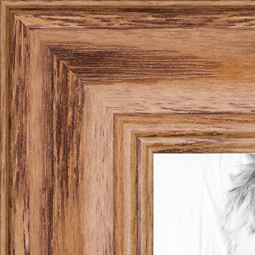 ArtToFrames 22x30 inch Honey Stain on Solid Red Oak Wood Picture Frame, 2WOM0066-59504-YHNY-22x30