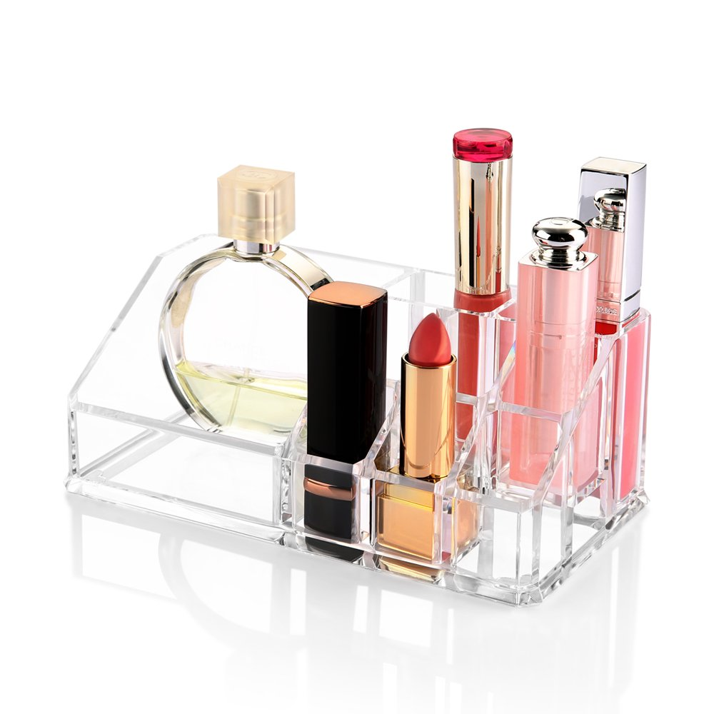 Acrylic Makeup Organizer, Zanbase Jewelry & Cosmetic Storage Display Boxes for Lipstick, Brushes, Bottles