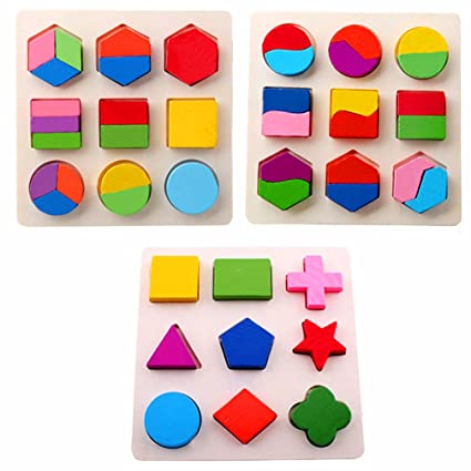 Learning Educational Toys Montessori Teaching Toys Wooden Math Toys Kids Geometric Puzzle Solids Shapes Montessori Toys Learning & Education