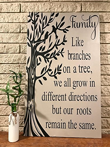 Cheap Family tree hand painted wooden sign