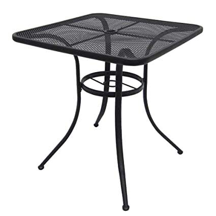 Amazoncom Commercial Home Steel Mesh Bistro Table Patio - Commercial outdoor bistro table and chairs