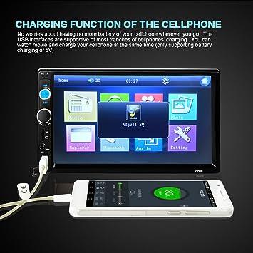 Sedeta® 7 pulgadas androide del GPS del coche de navegación 8G registrador de la conducción wifi Bluetooth estéreo vídeo E-libro Cámara amplificador ...
