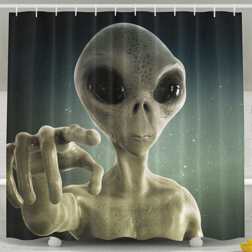 Amazon Alien Fashion Shower Curtain Deluxe Waterproof Bath Home Kitchen