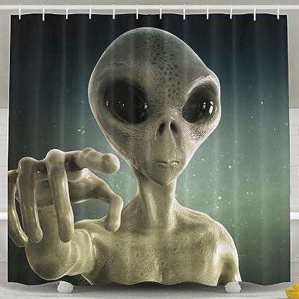 Amazon Alien Fashion Shower Curtain Deluxe Waterproof Bath