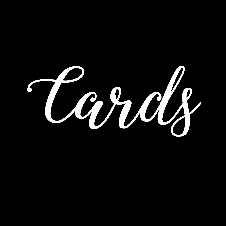 White Wedding Cards 6 Vinyl Car Decal
