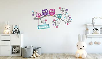 Wandtattoo Kinder Babyzimmer Aufkleber Eule Eulen Wandsticker Wand  Waldtiere Kinderzimmer Wandaufkleber Dekoration Fürs Baby Kindergarten Baum