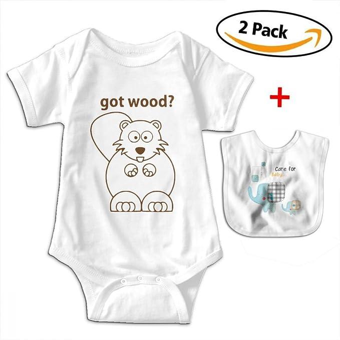 26edca2f5 KAYERDELLE Beaver Wants Got Wood Newborn Babys Boy's & Girl's Short Sleeve  Bodysuit Baby Onesie for