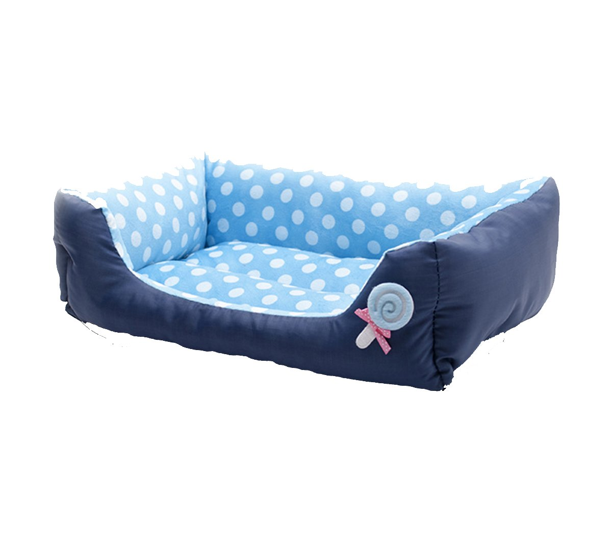 bluee Dots M& xFF08;22.817.75.5 inch& xFF09; bluee Dots M& xFF08;22.817.75.5 inch& xFF09; Dog Beds Pets House Ultra-Soft Nest Water ResistantPuppy Dogs Beds Warm Cats House (M(22.817.75.5 inch), bluee Dots)
