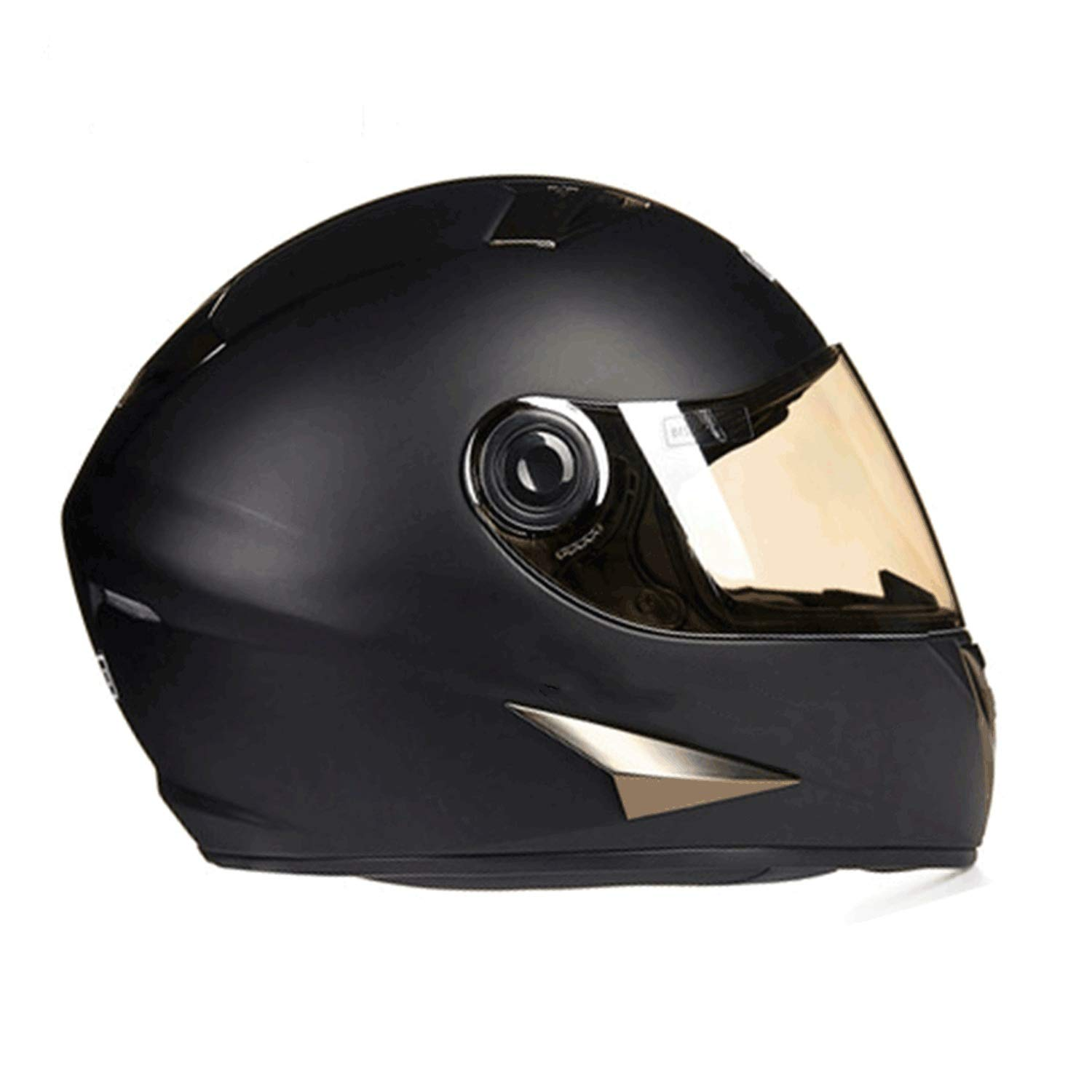 Motorbike Helmet,full Face Helmet,Deceleration Anti-glare Summer Electric Car Helmet Female Four Seasons Helmet M (54-56cM) L (57-58cx) XL (59-60cw) (Color : Matte Black, Size : XL)