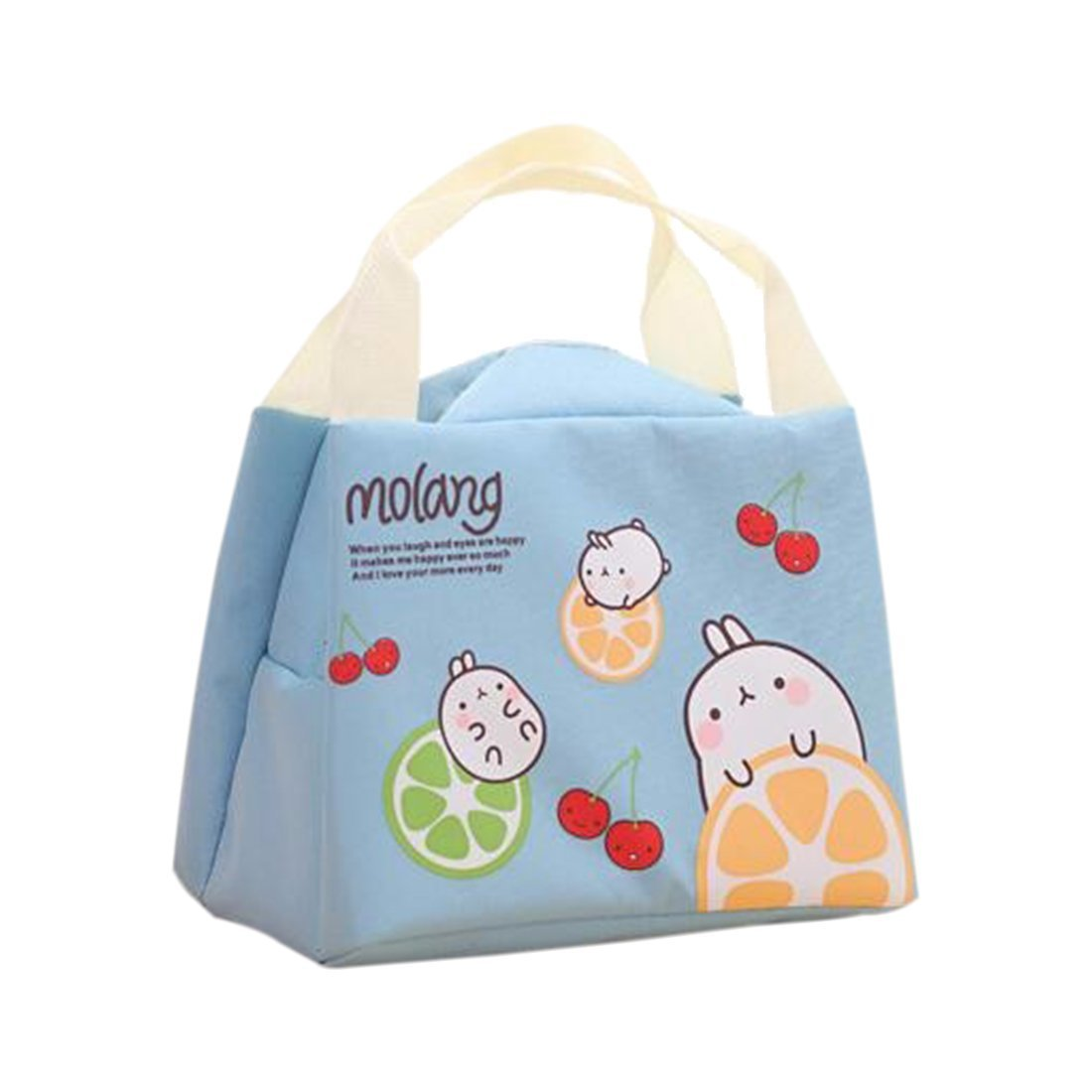 Cute Rabbit Tote - SODIAL(R) Cute Rabbit Canvas Lunch Thermal Bag Portable Insulated Food Picnic Bags Cooler Lunch Box Bag Tote£¨sky blue£© TRTA11A
