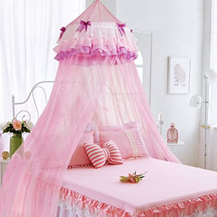 Pink dome hanging princess children\'s mosquito net, Girl ...
