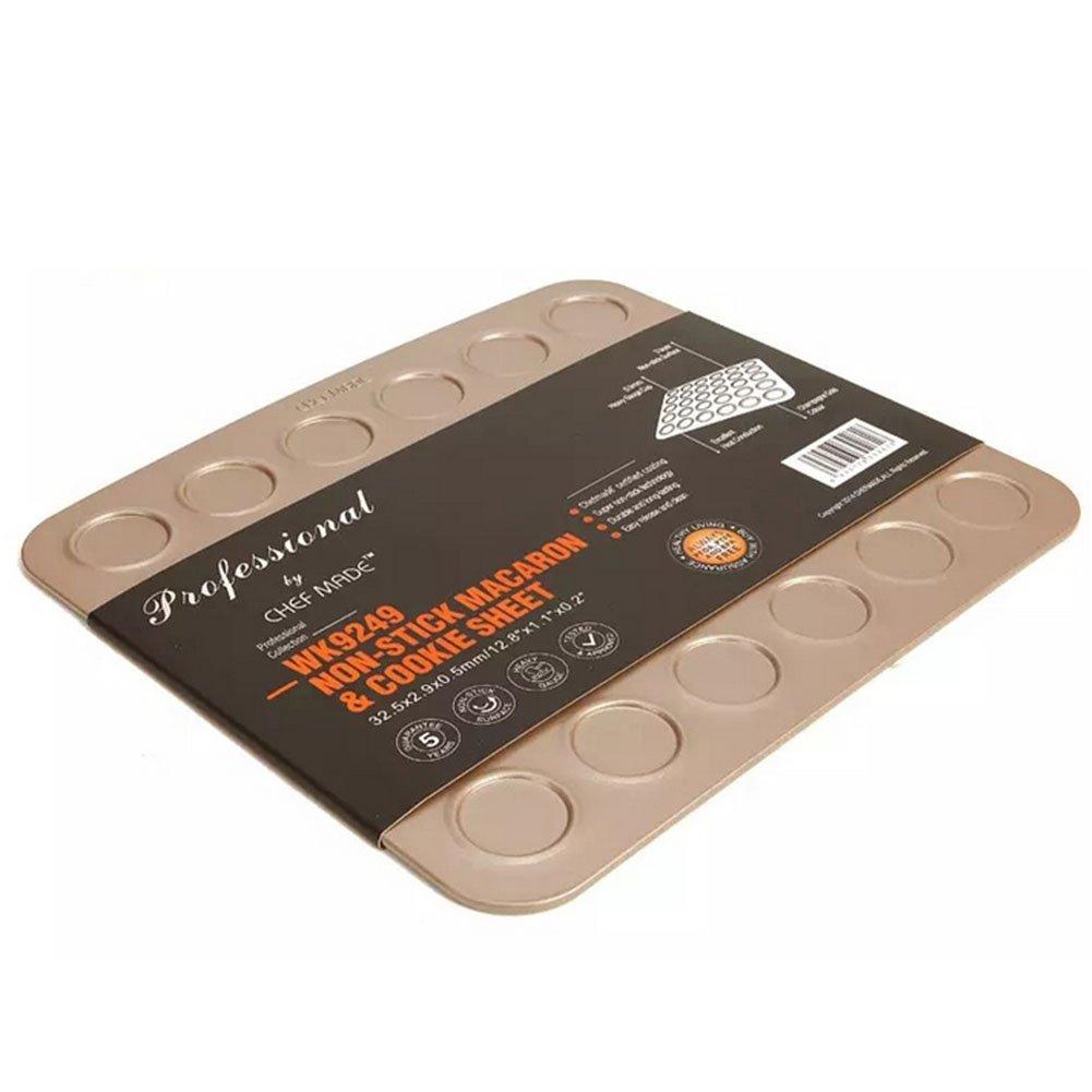 30 Cavity Carbon Steel Whoopie Pie Pan, Non Stick Macaron Baking Sheet by Bellagione