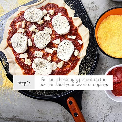 "14/"" Paddle with Non Stick Ceramic Coating 10/"" The Ultimate Aluminum Pizza Peel"