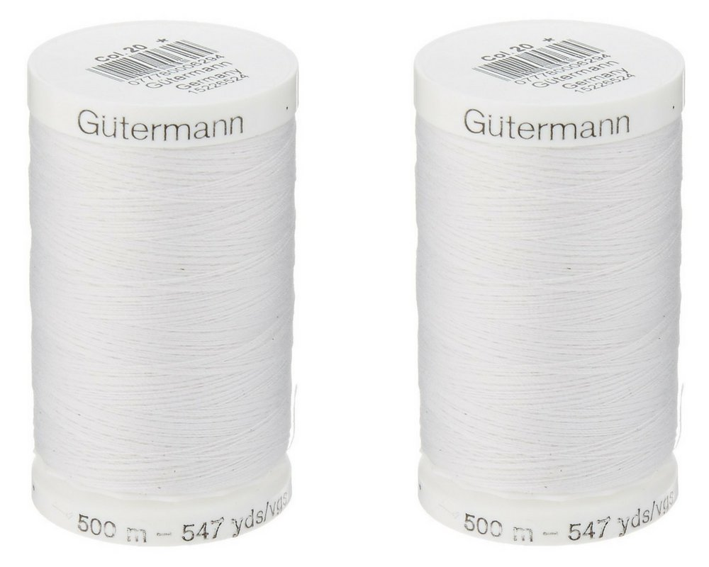 Egg Shell /& Nu-White 2-Pack Bundle of Gutermann Sew-All Thread 547 Yards each