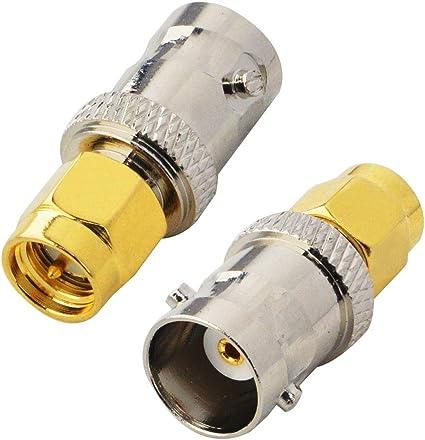 BOOBRIE Conector BNC SMA Conector coaxial macho SMA BNC ...