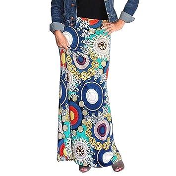 Falda larga para mujer con estampado africano, tamaño grande ...