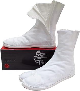 祭走 ファスナー足袋 (白) 7枚丈 立体インソール入り