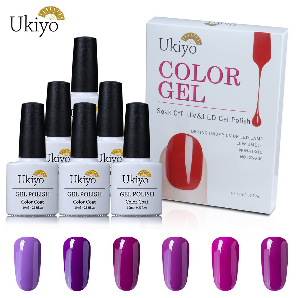 Conjunto de gel de esmalte de uñas LED UV, color morado (02 ...