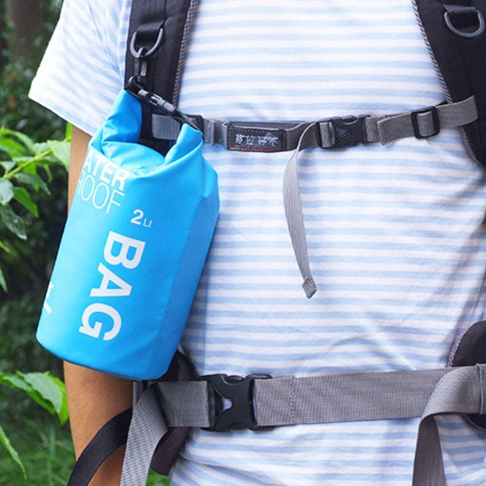 Impermeable port/átil 2L Bolsa seco Oc/éano Paquete de Tapa Deslizante Saco para la navegaci/ón la Deriva y Actividades al Aire Libre de Agua
