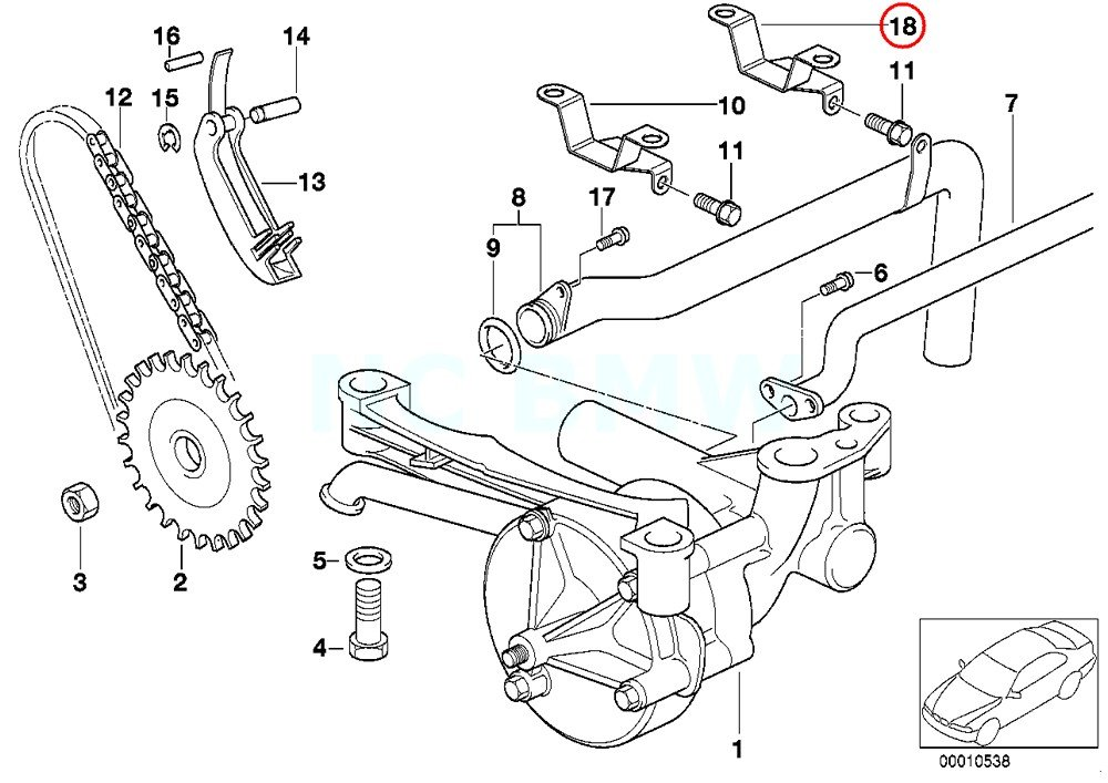 Amazon Com Bmw Genuine Bracket Oil Pipe Automotive