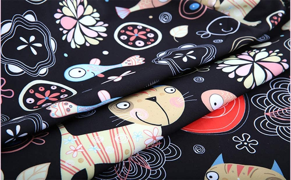 23-42in Travel Suitcase Dust Cover Polyester Wear-Resistant Elastic Colored Print Luggage Protector Case for Unisex