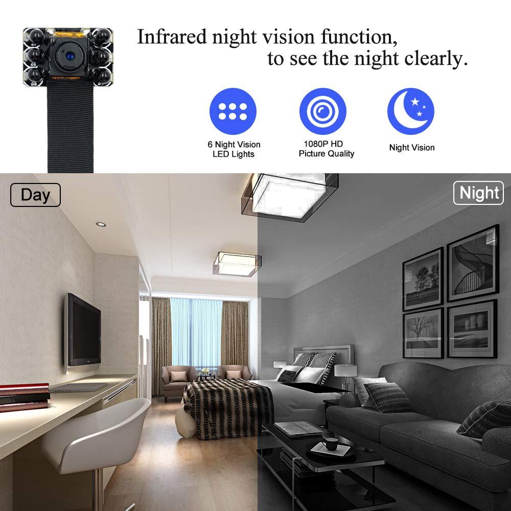UYIKOO WiFi Cam/éra Espion HD 1080P Cam/éra Cach/ée avec D/étection de Mouvement Mini Cam/éra Prise en Charge de Live View pour iOS et Android