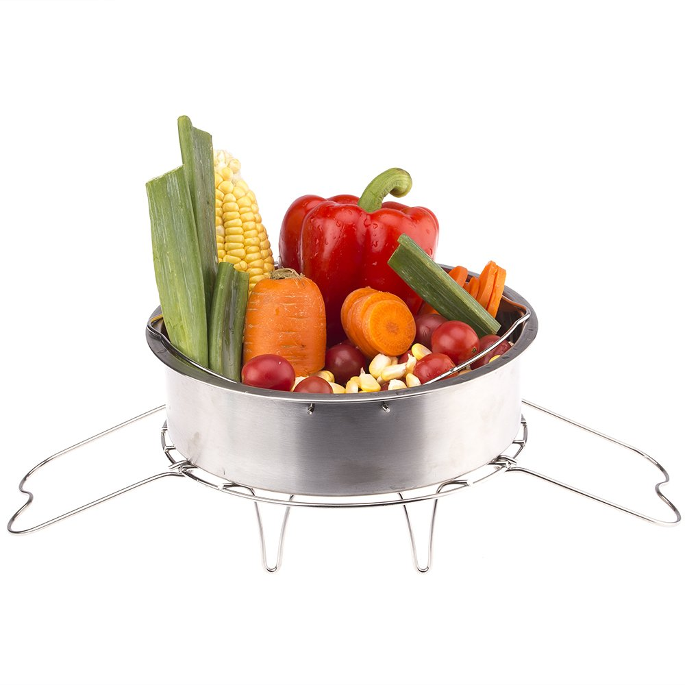 Tmflexe Steamer Rack Trivet with Handles for Instant Pot 6 QT 8 QT and other Electric Pressure Cookers Instant Pot accessories by Tmflexe (Image #4)
