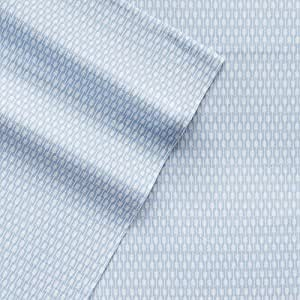 Cuddl Duds King Flannel Sheet with Deep Pockets, 4-Pieces - Blue Arrow