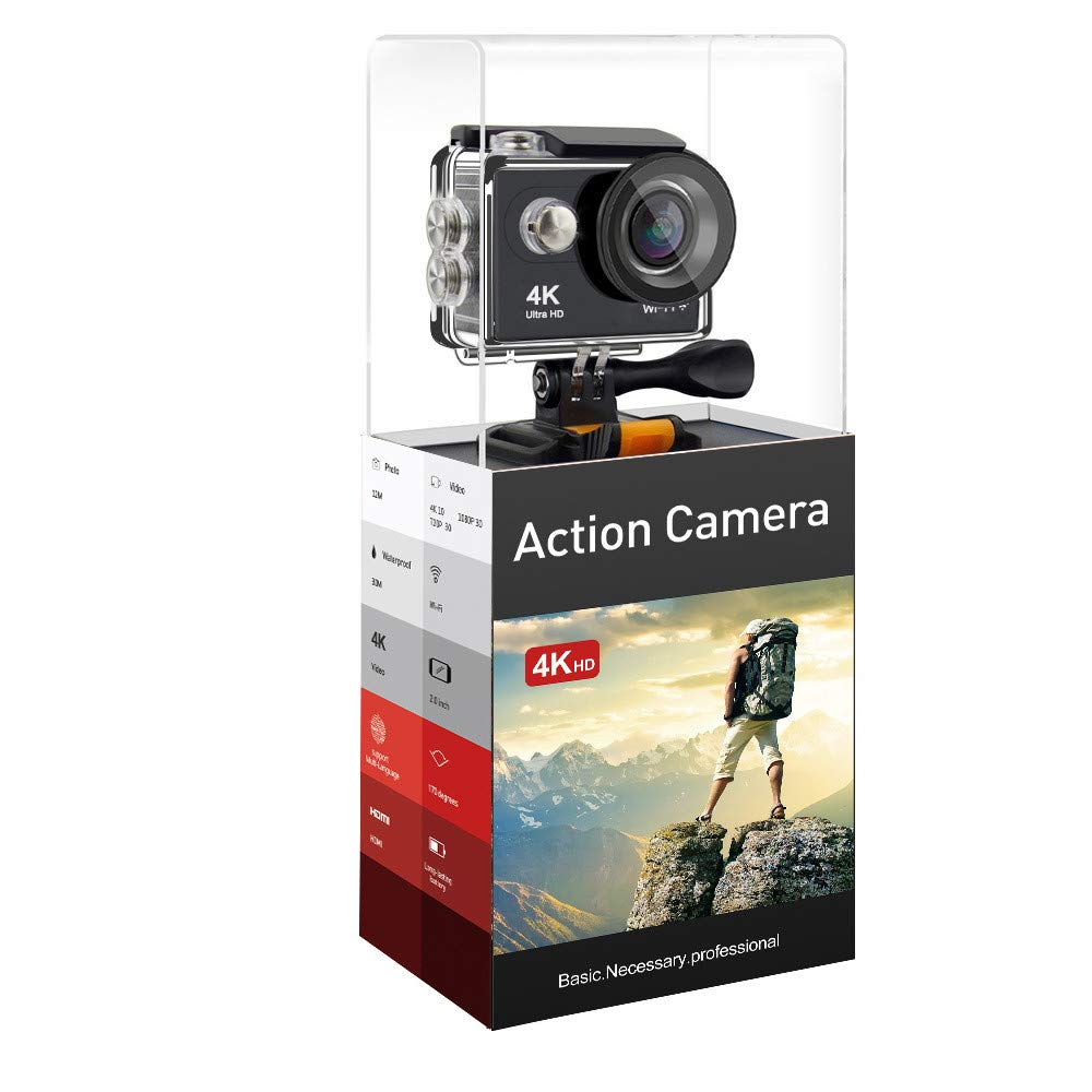 Ergou Action Kamera Kamera Action Remote 4 Karat Wasserdicht Digital Sport Kamera Wifi Mini Reise HD Luft Reiten Dive Kamera DV 3e4090