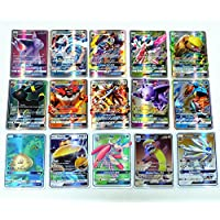 Carte Pokemon Sun and Moon (Soleil et Lune) - Carte rare 60 pcs GX Card, meilleur cadeau