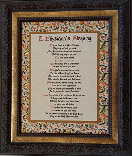 A Physician's Blessing - Framed Inspirational Prayer - Gift for a Special Doctor or Graduation from Medical School by The Blessing Collection