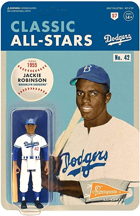 Jackie Robinson (Los Angeles Dodgers) MLB Reaction Figure by Super7