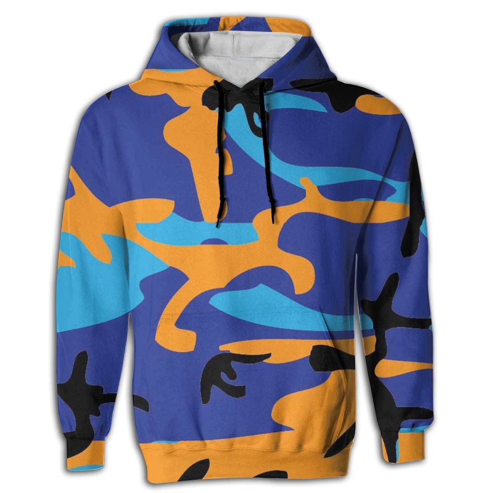 QQMIMIG Unisex Multi-Color Camouflage 3D Printed Pullover Long Sleeve Fleece Hooded Sweatshirts with Pockets