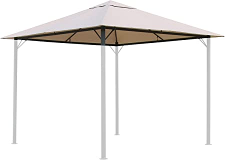 Quick Star Replacement Roof For Garden Gazebo 3x3m Beige Amazon