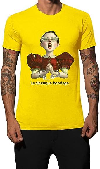 Camiseta amarilla Iacobuccyounes Bondage - maestro y esclavo en ...